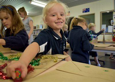 Children making arts and crafts